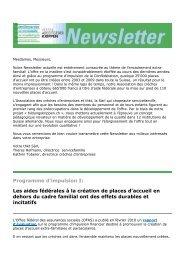 Newsletter du 12 mars 2010 - Familienservice