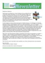 Newsletter du 17 mars 2011 - Familienservice