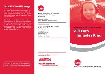 500 Euro für jedes Kind - Familientext.de
