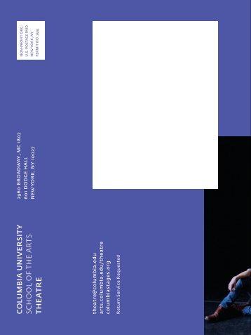 new plays now 2013, complete program - Columbia University ...