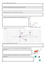 recupero classi prime - Lezioni di fisica per gli allievi del Bovara