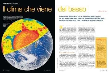 Il clima che viene dal basso - Lezioni di fisica per gli allievi del Bovara