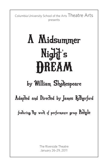 A Midsummer Night's Dream - Columbia Stages