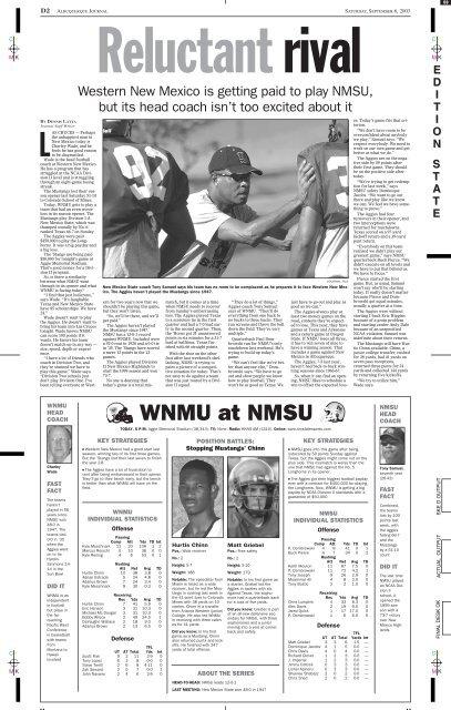 WNMU at NMSU - Albuquerque Journal
