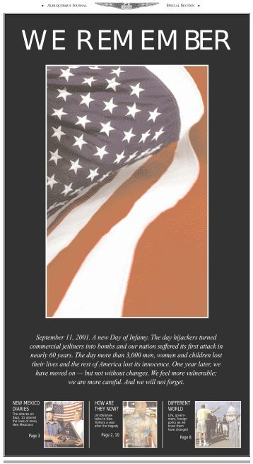 We Remember - Albuquerque Journal