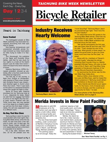 taichung bike week newsletter - Bicycle Retailer and Industry News