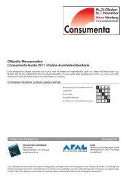 Online-Ausstellerdatenbank - Consumenta