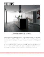 ARTEMATICA VITRUM: THE ALL GLASS KITCHEN - DOM Interiors