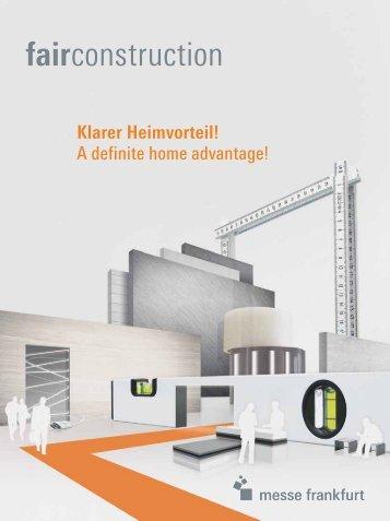 Klarer Heimvorteil! A definite home advantage! - fairconstruction.com