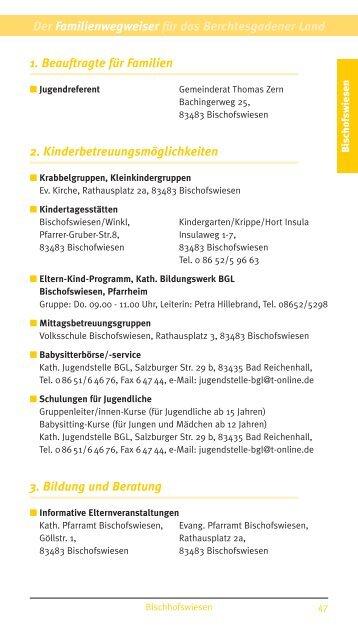 Bischofswiesen - Familienwegweiser BGL