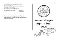 Veranstaltungen Sept. - Dez. 2008 - Familienzentrum Worms