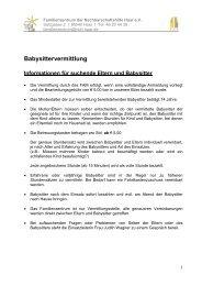 Infoblatt - Familienzentrum Haar
