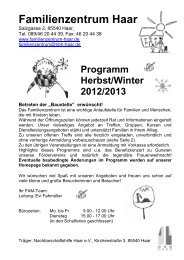 Programm Herbst/Winter 2012/2013 - Familienzentrum Haar