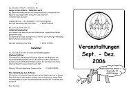Veranstaltungen Sept. - Dez. 2006 - Familienzentrum Worms