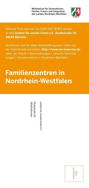 Familienzentren in Nordrhein-Westfalen - Familienzentrum NRW