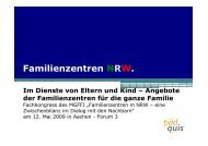 Im Dienste von Eltern und Kind – Angebote - Familienzentrum NRW