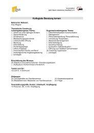 Kollegiale Beratung lernen - Familienzentrum NRW