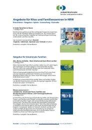 Übersicht über Angebote für Familienzentren - Familienzentrum NRW