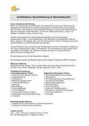 Zertifikatskurs: Sprachförderung im Elementarbereich