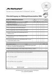 Elternbefragung Bildungsdoku - Familienzentrum NRW