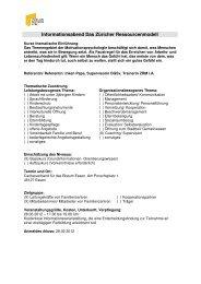 Informationsabend Das Züricher Ressourcenmodell