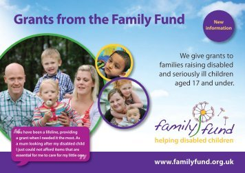 This is how we help - Family Fund