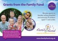 Grant Application Brochure - pdf file - Family Fund