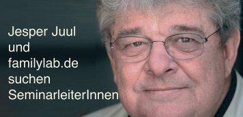 Jesper Juul und familylab.de suchen SeminarleiterInnen