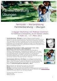 Familienberatung – Übungen - Familylab