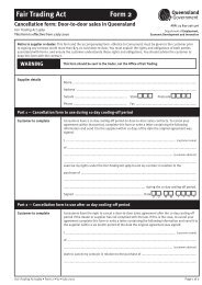 Fair Trading Act Form 2 - Office of Fair Trading