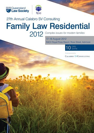 27th Annual Calabro SV Consulting - Family Law Residential 2012