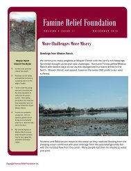 Newsletter Vol 3 Issue 11 November 2010 - Famine Relief Foundation