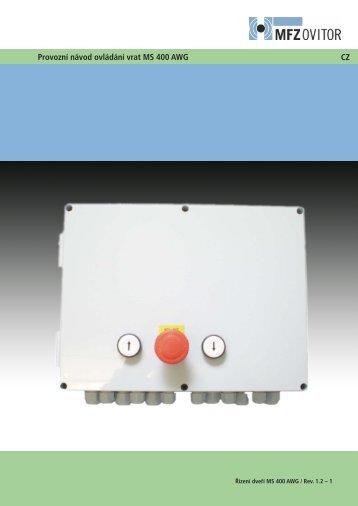Řídící jednotka MS 410-CZ (pdf)