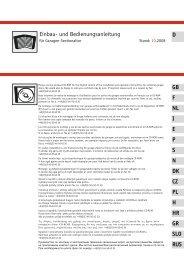 Einbau- und Bedienungsanleitung Einbau- und ...