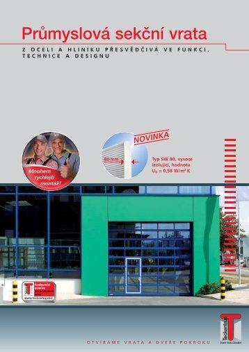 Prospekt - prům. sekční vrata CZ (pdf)