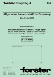 Bauaufsichtliche Zulassung Forster fuego light T90 - Teckentrup
