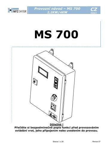 Řídící jednotka MS 700-CZ (pdf)