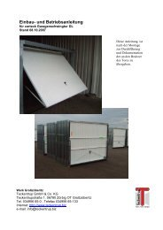 Einbauanleitung DL (pdf) - Teckentrup