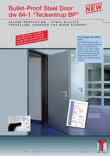 """Bullet-Proof Steel Door dw 64-1 """"Teckentrup BP"""""""
