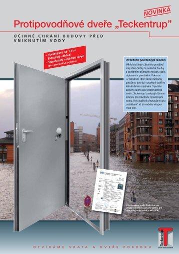 """Protipovodňové dveře """"Teckentrup''"""