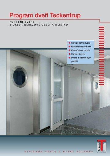 Prospekt - program dveří Teckentrup-CZ (pdf)