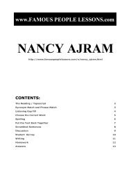 NANCY AJRAM - Famous People Lessons.com