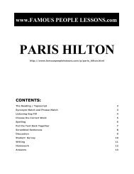PARIS HILTON - Famous People Lessons.com