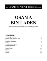 OSAMA BIN LADEN - Famous People Lessons.com