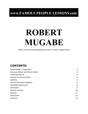 ROBERT MUGABE - Famous People Lessons.com