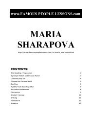 MARIA SHARAPOVA - Famous People Lessons.com
