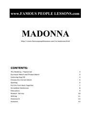 MADONNA - Famous People Lessons.com