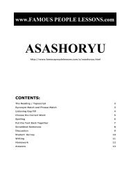 ASASHORYU - Famous People Lessons.com