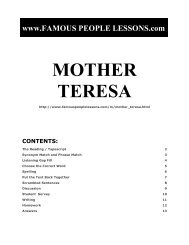 MOTHER TERESA - Famous People Lessons.com