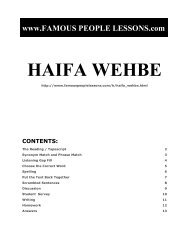 HAIFA WEHBE - Famous People Lessons.com